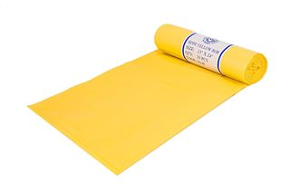 Picture of 14 X 26 X 44 MDPE Yellow Bag on a Roll