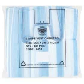 Picture of 220X340X430mm HD Stripe Vtc Blue/White