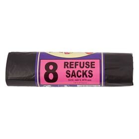 Picture of 26x42 Privo Black Recycled Sacks 8's