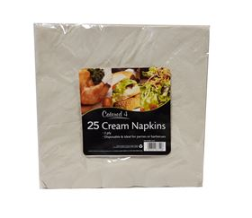 Picture of 25pk 2ply Napkins - Cream