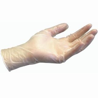 Picture of Clear Vinyl Lightly Powdered Med Gloves