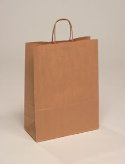 Picture of 320x120x410/100gsm Brown Paper Carrier Bag