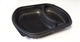 Picture of 36oz 2 Compartment Micro Container Blk