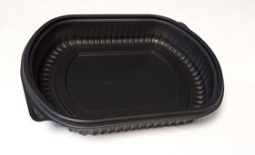 Picture of 24oz 1 Compartment Blk Microwave Container