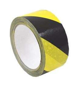Picture of 50mm x 33m Black/Yellow Floor Marking Tape
