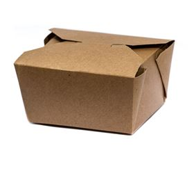 Picture of Kraft PE Takeaway Box 197x139x89mm (72oz)