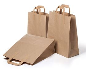 """Picture of 12"""" 10X5.5X12 Brown tape handle carriers"""