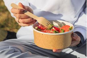 Picture of 750ml Squat Kraft salad paper bowl 26oz
